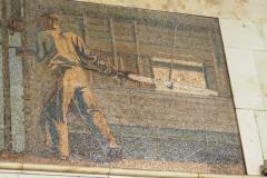 Steel Works Mosaic - Avtozavodskaya Metro Station