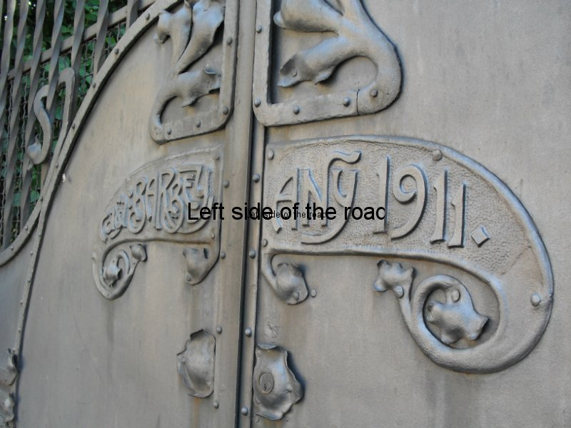 Wrought iron gate - Casa Barbey, La Garriga