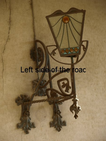 Wrought iron lamp - Casa Barbey, La Garriga
