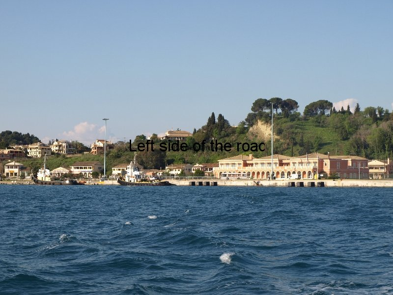 Corfu port from Sranda Albania bound fast ferry Kristi