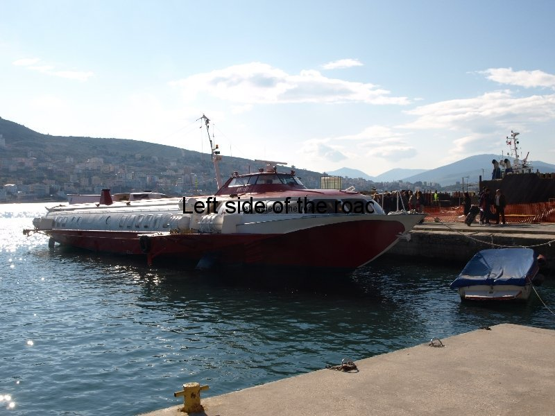 Fast ferry Kristi from Corfu in Saranda Albania port 2