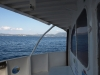 Corfu from back of Saranda bound fast ferry Kristal