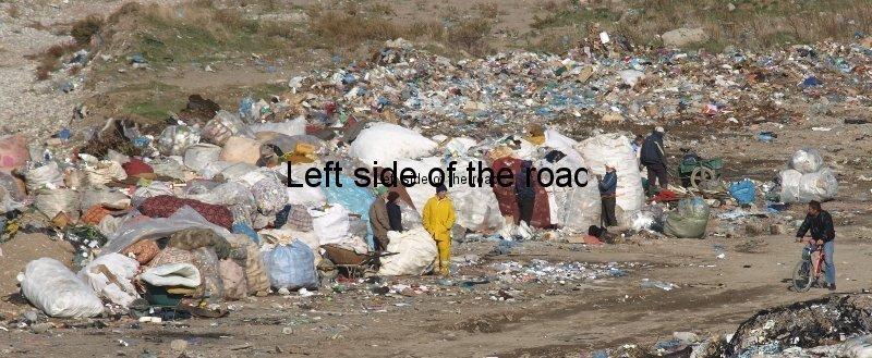 Rubbish dump by River Kir, Shkoder