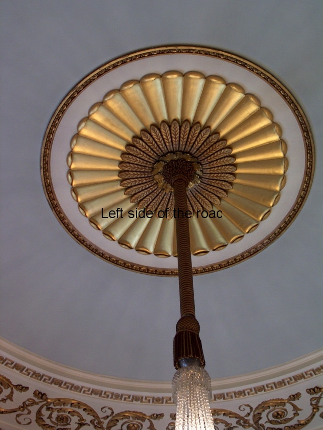 Town Hall ceiling chandelier