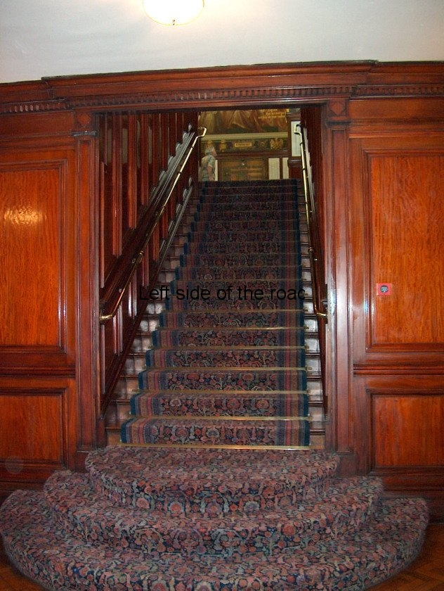 Town Hall staircase from kitchens to Hall of Remembrance
