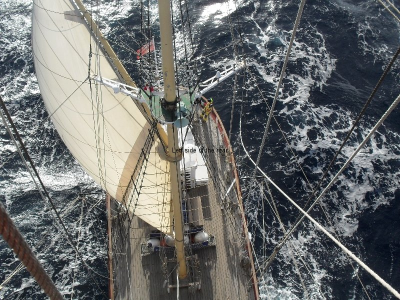 View from main mast, mid Atlantic