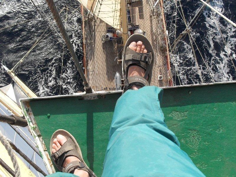 Looking down from top top, mid Atlantic