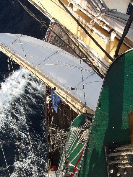 View from main mast, mid Atlantic
