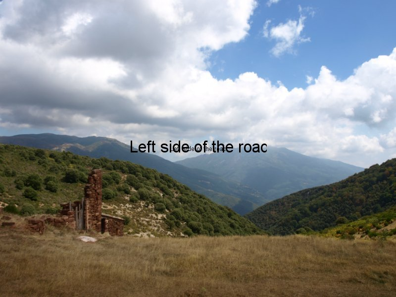 Looking back from El Cafe - Walk from Montseny to Taganament