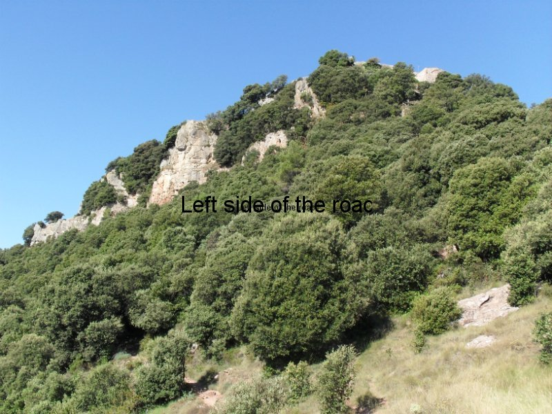 Cliff face up to Santa Maria de Taganament - Walk from Montseny to Taganament