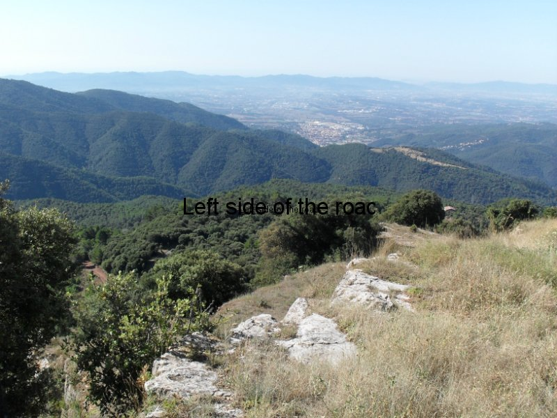 La Garriga from Santa Maria de Taganament - Walk from Montseny to Taganament