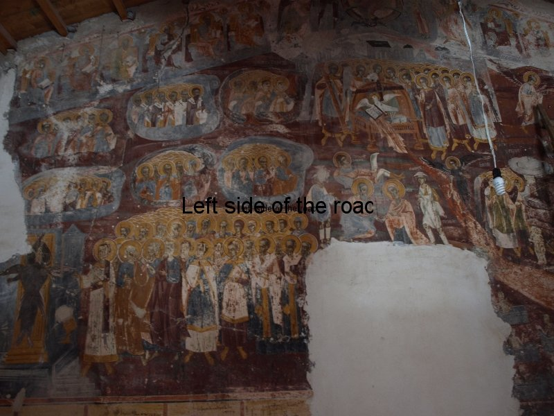 Rear wall - Monastery Church of Panagia (Mother of Christ) in Dhermi