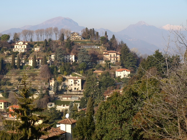 Orobie Mountains from Citta Alta
