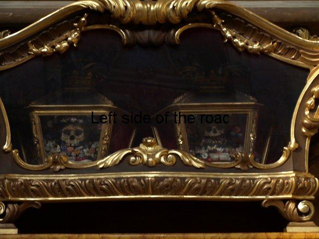 Santa Agata nel Carmine - Skull relics