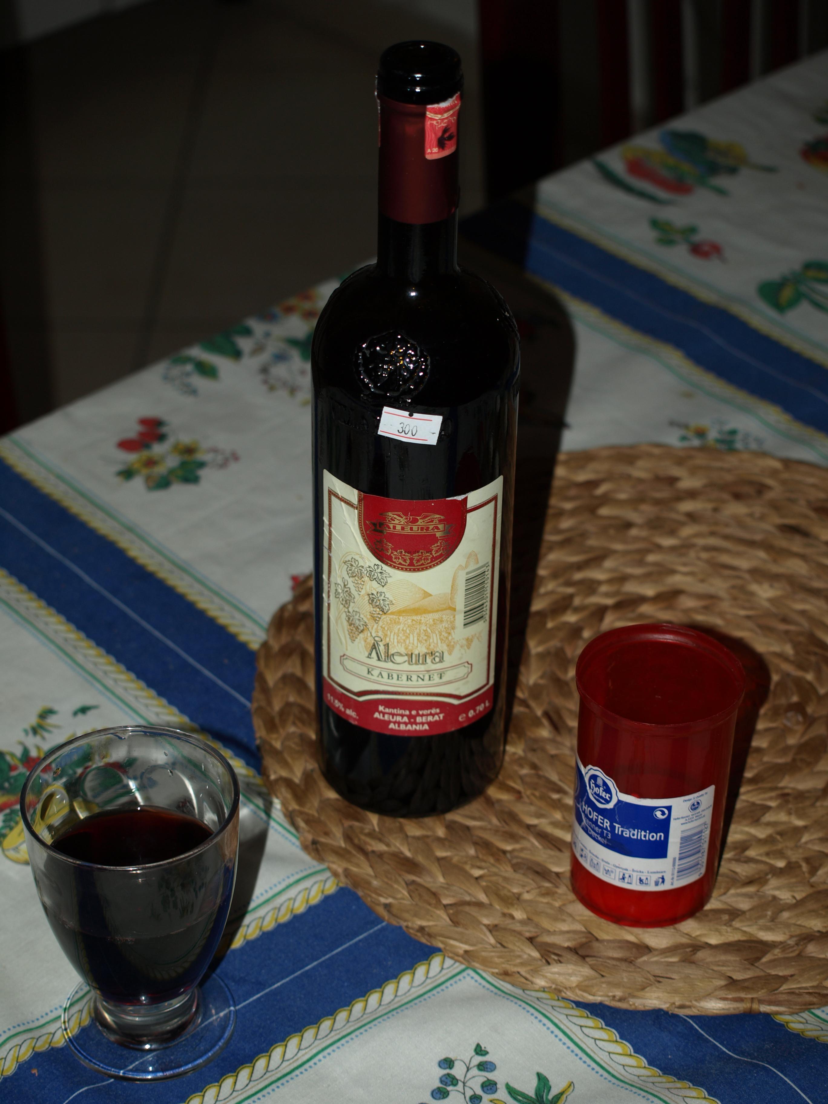 Aleura Kabernet Red Wine, Berat, Albania