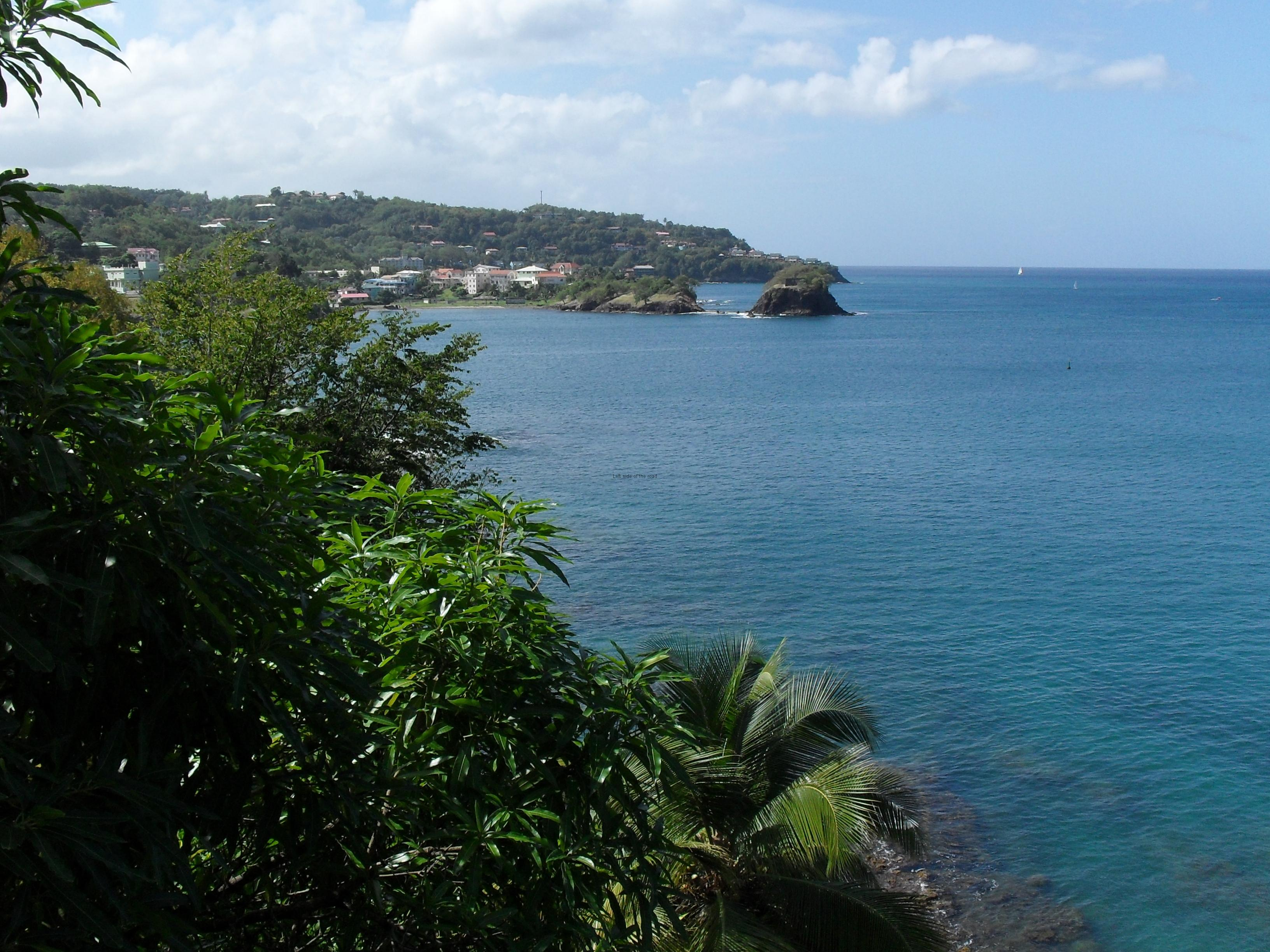 View over Castries Bay, St Lucia