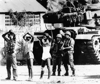 US troops bringing freedom to Grenada