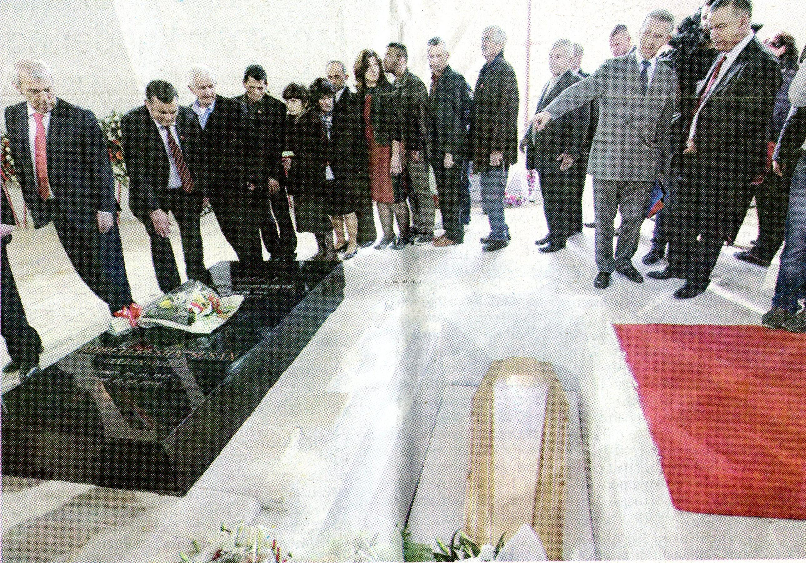 Zog's new tomb in Tirana