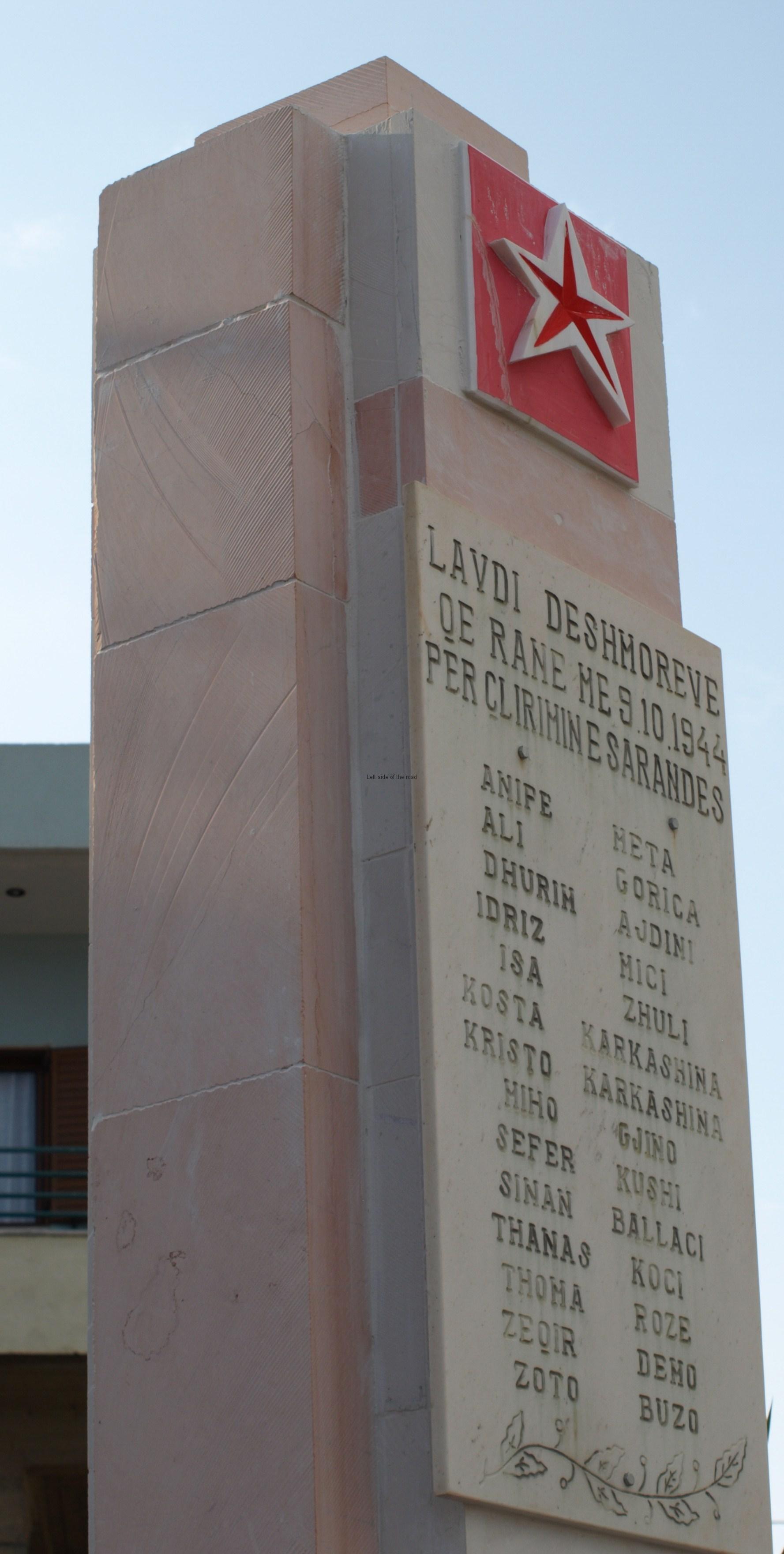 Saranda War Memorial