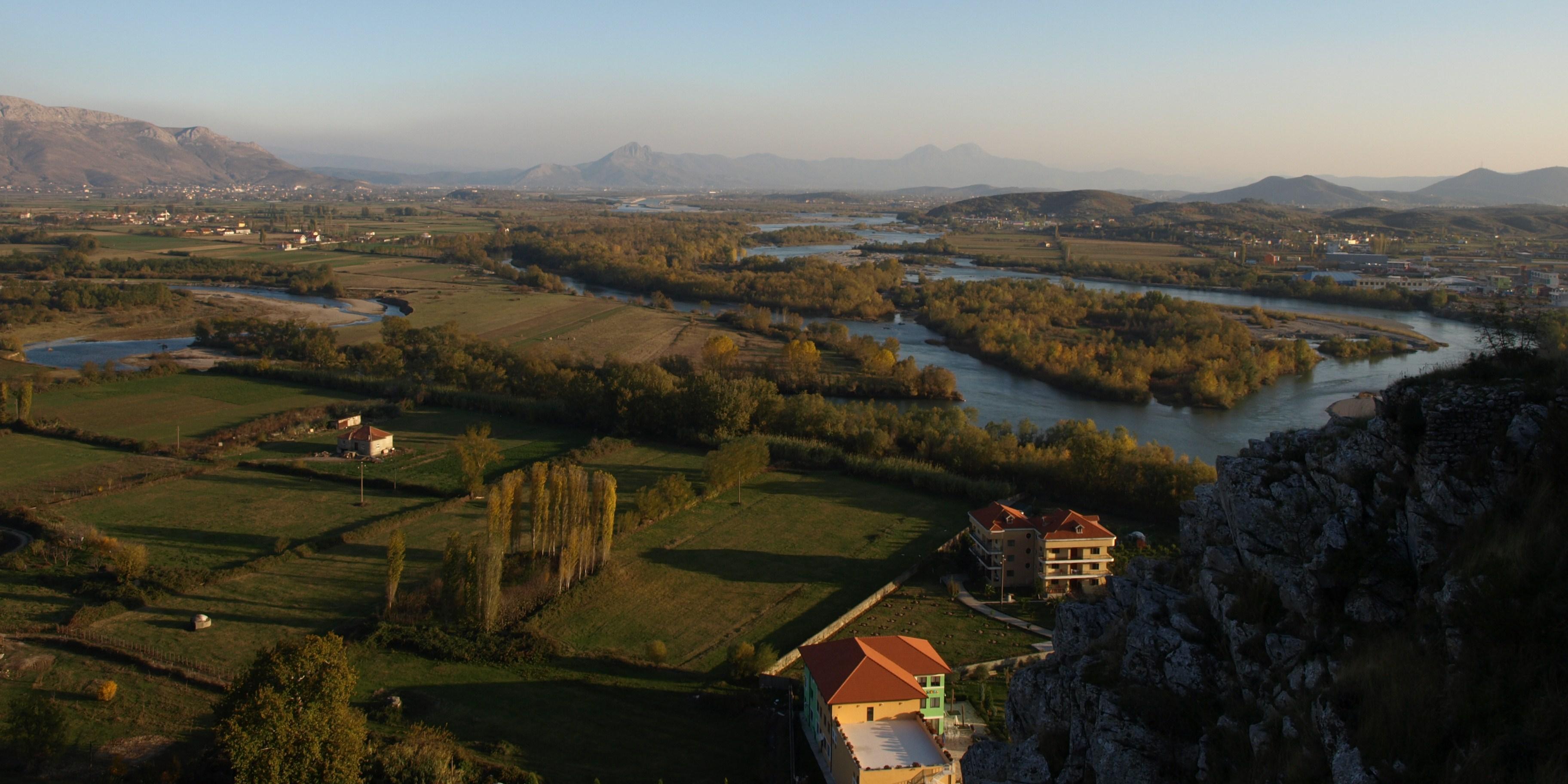View from Rozafa Castle, Shkoder