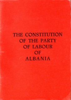 The Constitution of the Party of Labour of Albania