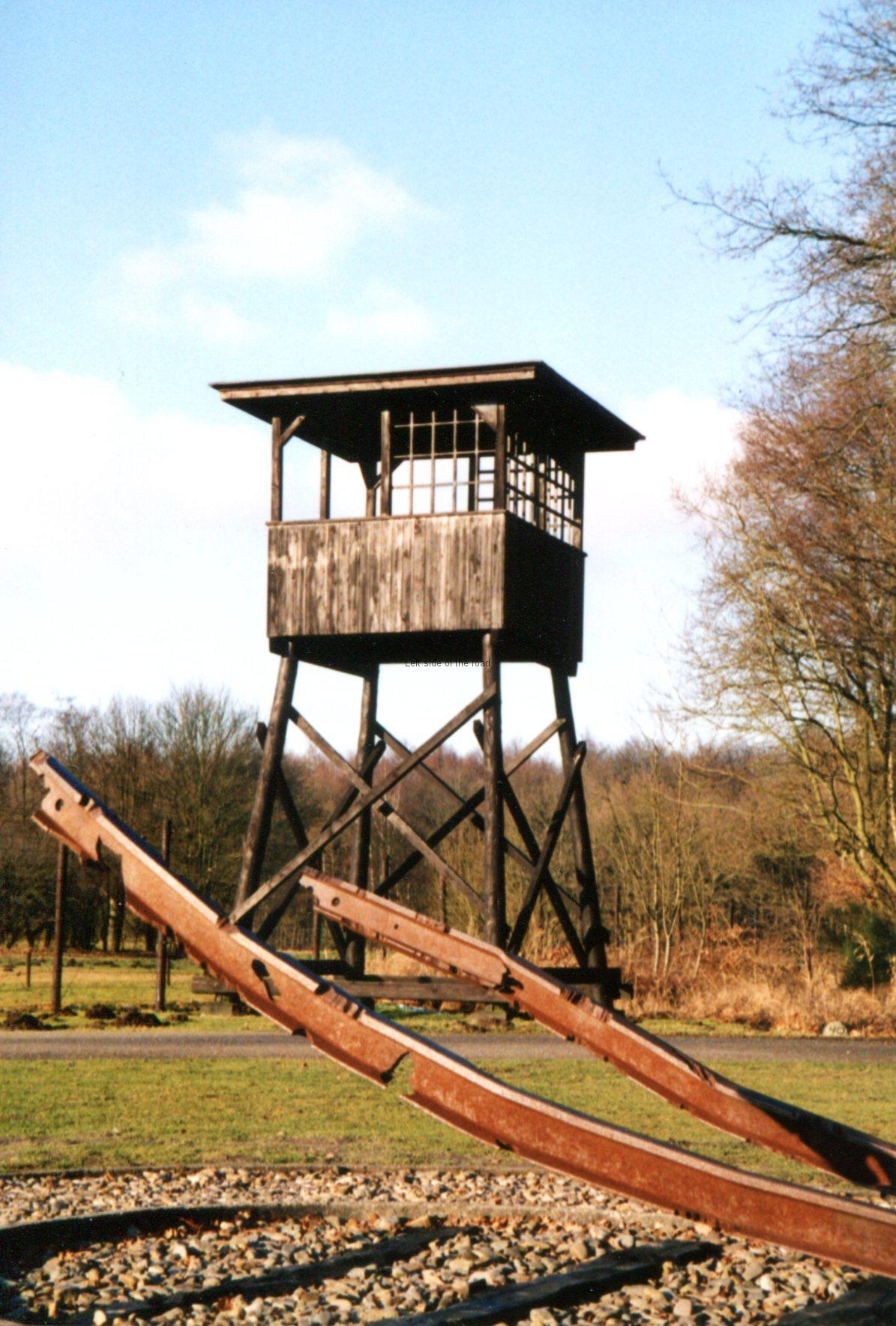 Westerbork Rail Memorial and Sentry Tower
