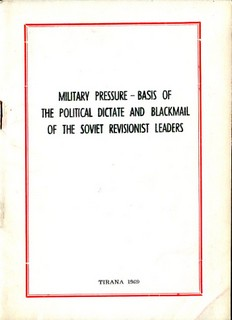 Military Pressure - Basis of the Political Blackmail of the Soviet Revisionists
