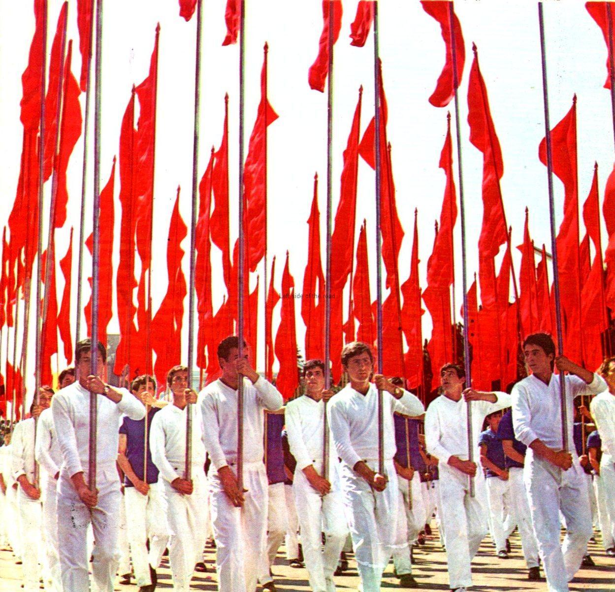 Parade through Tirana