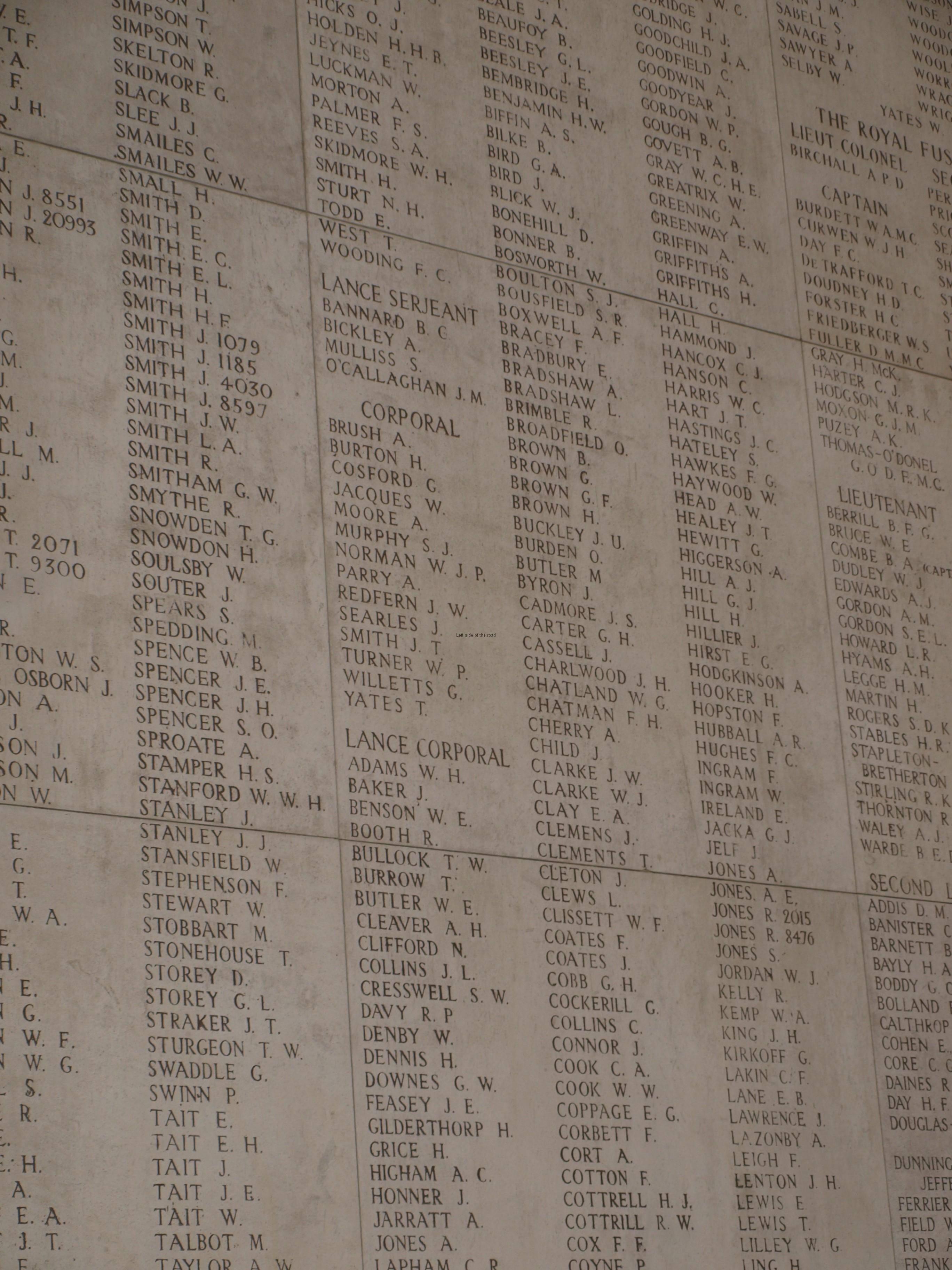 Class follows you to the grave, Menin Gate, Ypres, Belgium