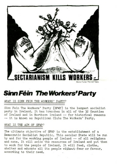 Sinn Fein - The Workers' Party - Sectarianism Kills Workers