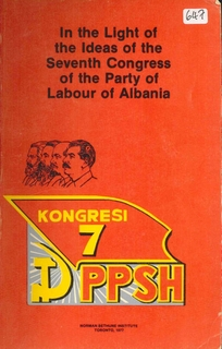 1977 In the light of the ideas of the 7th Congress of the PLA