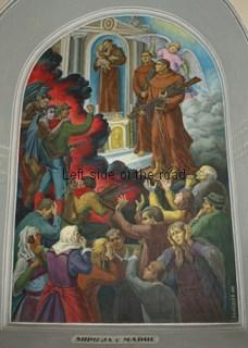Anti-Communist paintings in the Franciscan church in Skhoder