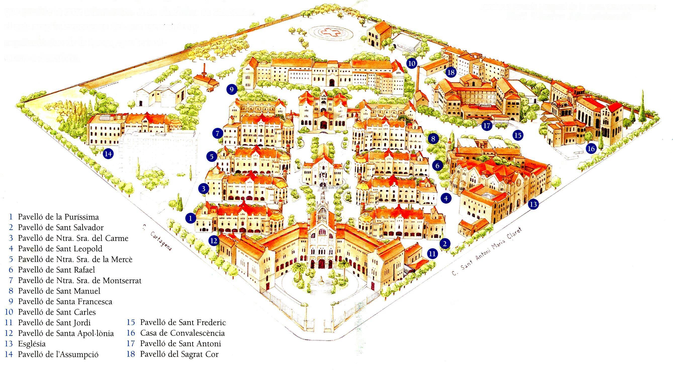 Hospital Santa Creu i Sant Pau - Pavilions