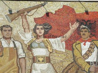 'The Albanians' Mosaic on the National Historical Museum, Tirana