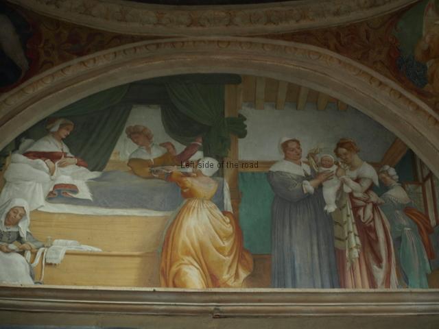Birth of the Virgin, Lorenzo Lotto
