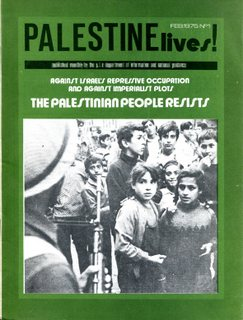 Palestine Lives - No 1, February 1975