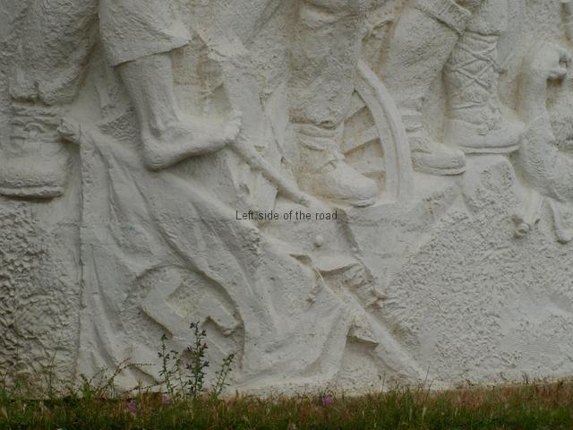 Drashovice Arch - Nazi standard in the dirt