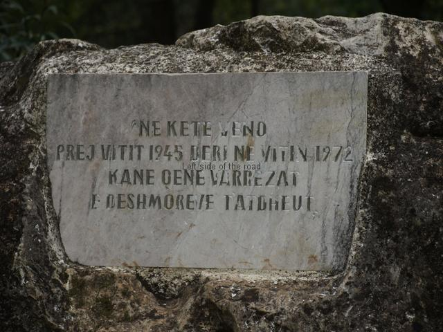 Memorial stone to original Martyrs' Cemetery