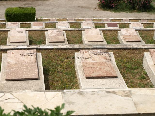 Lushnjë Martyrs' Cemetery - tombs