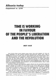 Albania Today No 5 ( 24) 1975 - Supplement - People's Liberation