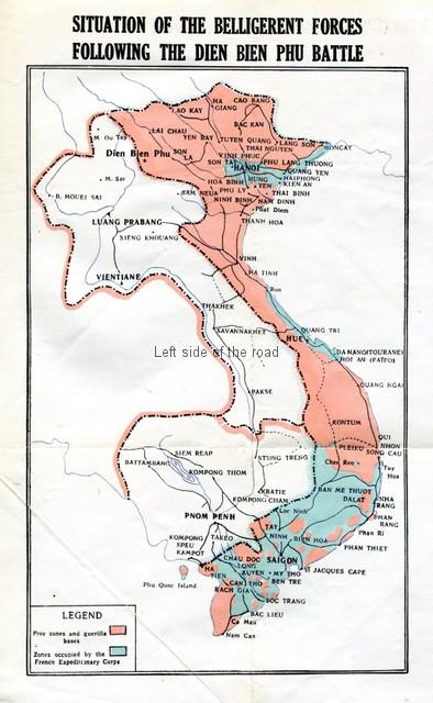 Situation of the belligerent forces following the Dien Bien Phu Battle