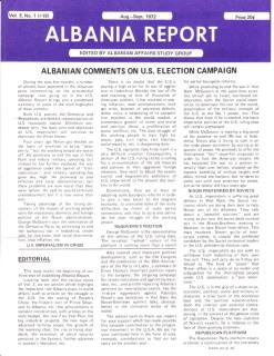 Albania Report Vol 3, No 1, 1971