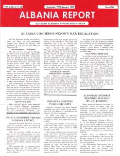 Albania Report Vol 3, No 3, 1973