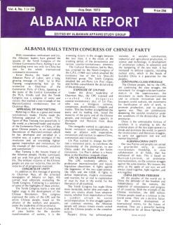 Albania Report Vol 4, No 1, 1973