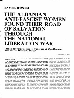 The Albanian Anti-Fascist women
