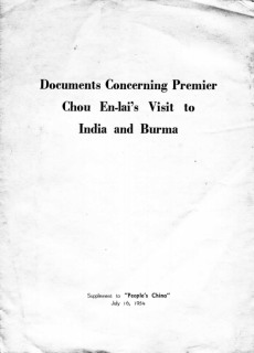 Chou En-lai's visit to India and Burma