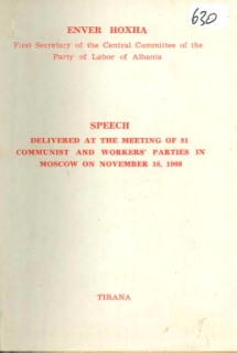 Speech at Meeting of 81 Communist Parties in Moscow, 1960