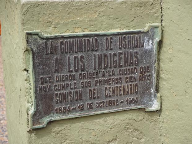 To the Indigenous People - Ushuaia