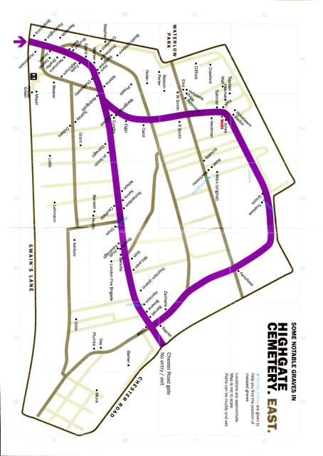 Highgate Cemetery (East) Plan