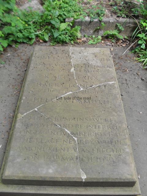 Karl Marx original tomb - Highgate Cemetery, London